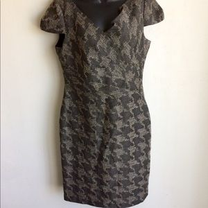 David Meister Dress Gray Pattern Size 10.